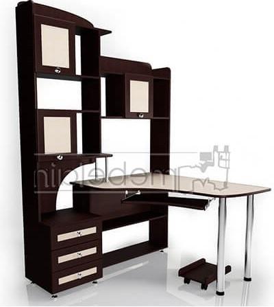 Компьютерный стол Мебелайн-19 в зеркальном исполнении