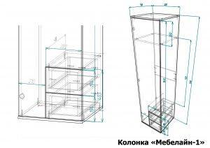 Колонка Мебелайн 1 размеры