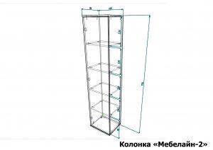Колонка Мебелайн 2 размеры