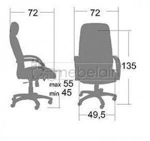 Офисное кресло Сенатор-2 коричневое