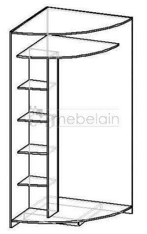 Радиусный шкаф-купе Мебелайн 2 черный