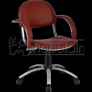 Офисное кресло Бейсик Люкс коричневое