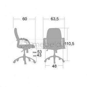 Офисное кресло Пилот-У6 белое