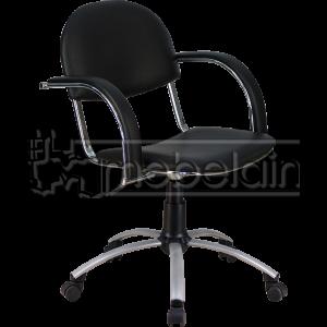 Офисное кресло Бейсик Люкс черное
