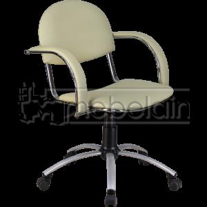 Офисное кресло Бейсик Люкс белое