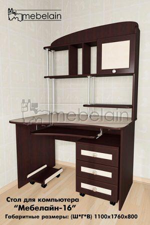 Компьютерный стол Мебелайн-16