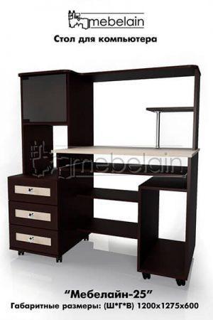 Компьютерный стол Мебелайн-25
