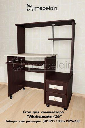 Компьютерный стол Мебелайн-26