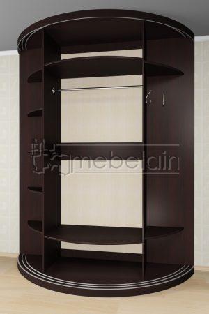Радиусный шкаф-купе Мебелайн 10-11 внутри