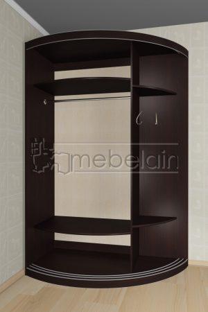 Радиусный шкаф-купе Мебелайн 12-13 внутри