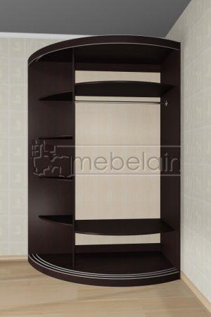 Радиусный шкаф-купе Мебелайн 14 белый внутри