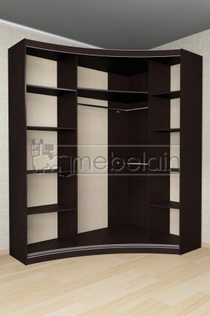 Радиусный шкаф-купе Мебелайн 16 внутри