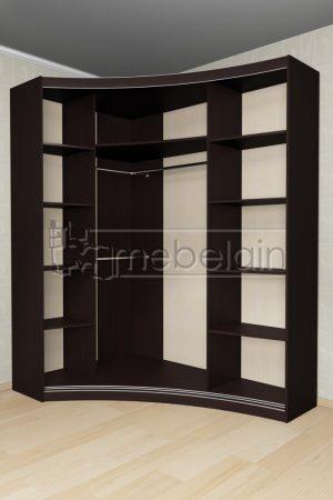 Радиусный шкаф-купе Мебелайн 17 внутри