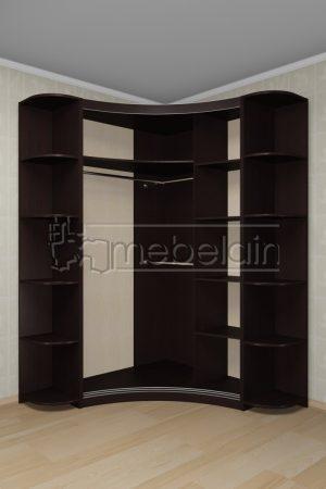 Радиусный шкаф-купе Мебелайн 20 внутри