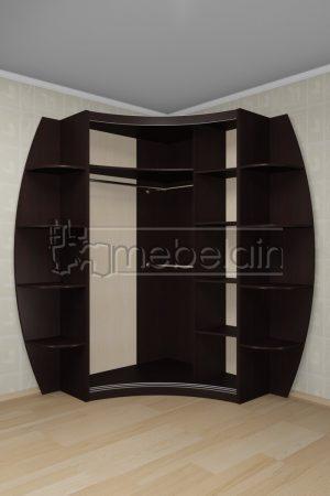 Радиусный шкаф-купе Мебелайн 21 внутри