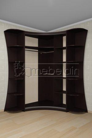 Радиусный шкаф-купе Мебелайн 22 внутри