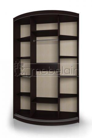 Радиусный шкаф-купе Мебелайн 3-4 внутри