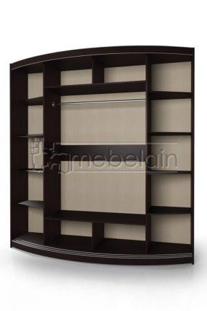 Радиусный шкаф-купе Мебелайн 5-6-7 внутри