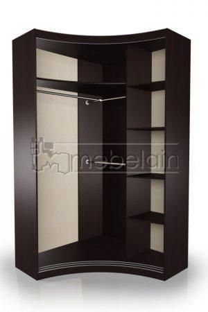 Радиусный шкаф-купе Мебелайн 8 внутри