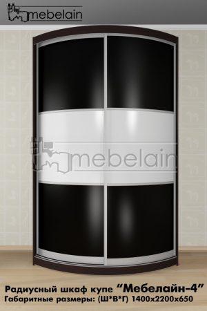 Радиусный шкаф-купе Мебелайн 4 в интерьере