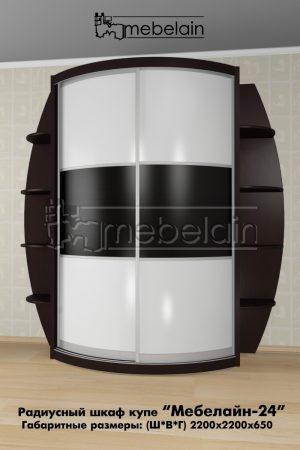 Радиусный шкаф-купе Мебелайн 24 в интерьере