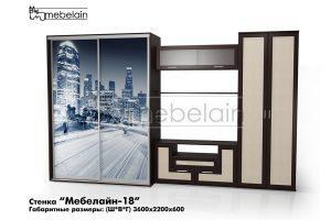 стенка в гостиную Мебелайн-18