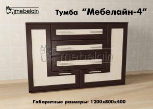 Тумба Мебелайн-4 в интерьере