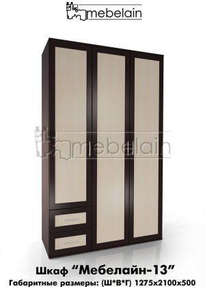 Распашной шкаф Мебелайн 13
