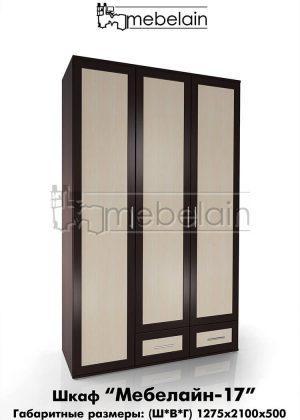 Распашной шкаф Мебелайн 17