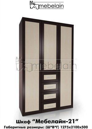 Распашной шкаф Мебелайн 21