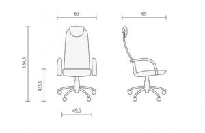 офисное кресло Галакси Лайт размеры