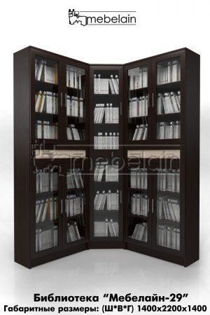 библиотека (книжный шкаф) Мебелайн-29