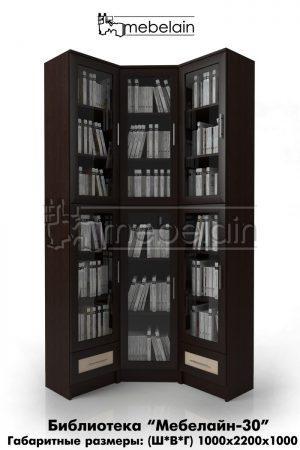 библиотека (книжный шкаф) Мебелайн-30