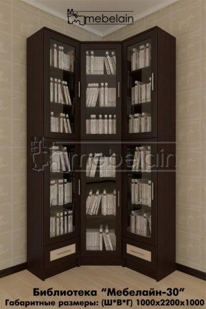 книжный шкаф Мебелайн-30 в интерьере