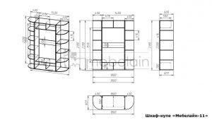 размеры шкафа-купе Мебелайн-11