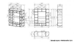 размеры шкафа-купе Мебелайн-12