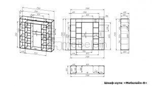 размеры шкафа-купе Мебелайн-8