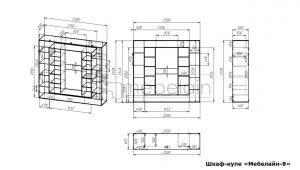 размеры шкафа-купе Мебелайн-9