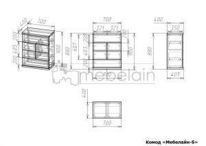 Размеры комода Мебелайн 5