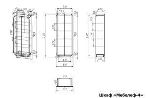 Распашной шкаф Мебелеф 4 размеры