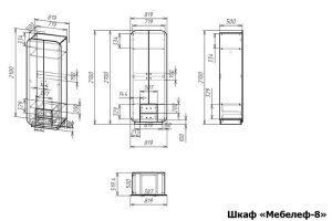 Распашной шкаф Мебелеф 8