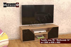 ТВ тумба Мебелеф-16 черная
