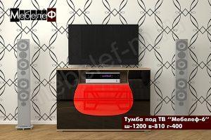 ТВ тумба Мебелеф-6 черно-красная