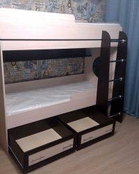 двухъярусная кровать с ящиками Мебелайн-1