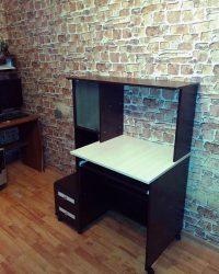 компьютерный стол Мебелайн-27 венге 2