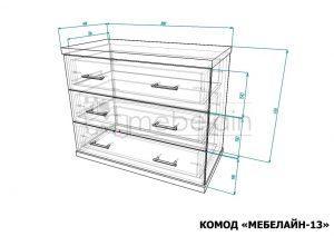 размеры комода Мебелайн-13
