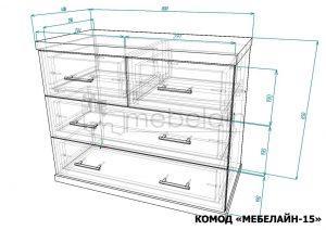 размеры комода Мебелайн-15