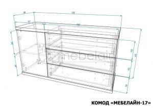 размеры комода Мебелайн-17