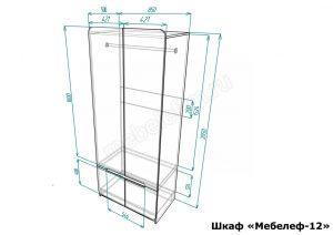 Распашной шкаф Мебелеф 12 размеры
